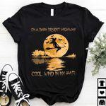 On A Dark Desert Highway Cool Wind In My Hair Shirt, Halloween Witch Broom, Halloween Shirt