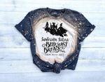 Hocus Pocus Inspired Sanderson Sister Bleached T-Shirt Halloween / Bed & Breakfast