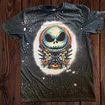 .Ja.ck Sk.elling.ton Bleached Shirt   Halloween Shirt
