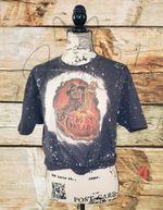 Halloween Bleached T Shirt/Freddy Krueger Bleached T Shirt/Sweet Dreams Bleached T Shirt