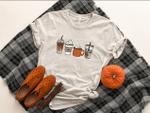 Fall Shirt for Women, Fall Coffee Shirt, Coffee T-Shirt, Pumpkin Spice Shirt