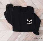 Halloween Sweatshirt, Pumpkin Sweatshirt, Halloween Crewneck, Jack-o-Lantern Shirt