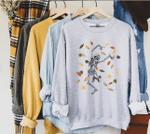 Skeleton Shirt, Skeleton Sweatshirt, Dancing Skeleton, Cute Halloween Sweatshirt