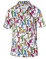 Awesome Crazy Funny Golf Mens Polo Shirt