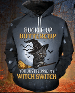 Witch Cat FlyingHalloween Witches Hoodie