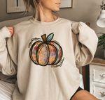 Fall Pumpkin Shirt, Pumpkin patch tie dye Sweatshirt, Fall Shirt for Women