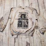 Hocus Pocus Witches Unisex Gray Halloween Tie Dyed Sweatshirt