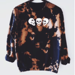 Laughing Skeleton, Funny Halloween Crewneck Sweatshirt, Happy Halloween