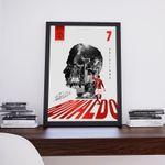 Cristiano Ronaldo, Manchester United, Premier League, Football Illustration, Print Poster