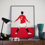 Cristiano Ronaldo 21/22 Manchester United Football Poster