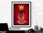 Cristiano Ronaldo Print, Painting, Poster, Illustration, Artwork, Manchester United, Football Fan Gift, MUFC, Wall Art