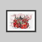 Manchester United Champions League 2008 print (Ronaldo, Rooney, Tevez, Giggs, Scholes, Vidic, Ferdinand, Evra, Van Der Sar, Carrick, Fergie)