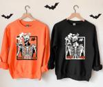 Hot Coffee Skeleton Shirt Skeletons Happy Halloween Sweatshirt