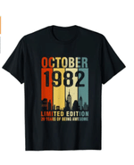 October 1982 Limited Edition 39 Years Of Being Awesome T-Shirt