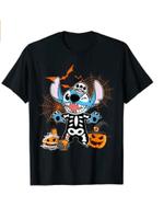 St.it.ch Trick Or Treat Halloween Skeleton Pumpkin Halloween T-Shirt