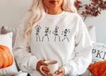 Dancing Skeleton SweatShirt, Fall Happy Halloween