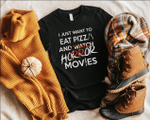 Halloween Pizza, Halloween Gift, Horror Movie Shirt, Funny Shirt