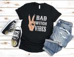 Bad Witch Vibes, Halloween Tshirt, Halloween Women, Witch Shirt