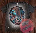Sally Skellington Matching Couples Bleached Shirt | Halloween Shirt | The Nightmare Before Christmas Shirt