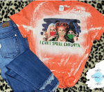 Hocus Pocus I Can't Smell Children Face Mask Distressed Bleached Shirt