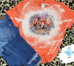 Hocus Pocus I Put A Spell On You Distressed Bleached Shirt