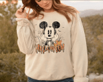 Mickey Not So Scary Halloween Active, Disney Ride Shirt, Dis.ney Halloween Retro SweatShirt