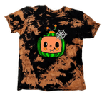 Coco.melon Inspired Kids Halloween Bleached Tiedye T-Shirt