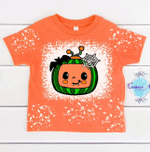 Coco.melon Spooky Halloween Bleached Distressed T-Shirt   Toddler Bleached Coco.melon