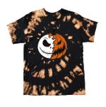 Jack Skellington Halloween Inspired Bleached Tiedye T-Shirt, A Nightmare Before Christmas