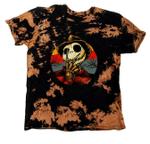 Jack Skellington Inspired KIDS Bleached Tie Dye T Shirt, Freddy Nightmare Halloween Shirt