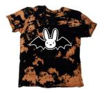 Kids Bad Bunny Halloween Inspired Bleached Tie Dye Tee