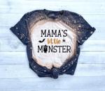 Bleached Kids Halloween Shirt, Mamas Little Monster Shirt, Kids Shirts For Halloween