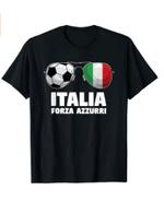 Italia Forza Azzuri Soccer Italian Flag Sunglasses Pride T-Shirt