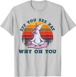 Eff You See Kay Why Oh You Unicorn Retro Vintage T-Shirt