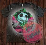 Jack Skellington Freddy Krueger Bleached T-Shirt | Halloween | Slashers
