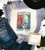 American Horror, Biden, Scary, Halloween, Bleached Shirt, Distressed Shirt