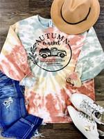 Autumn Market Tie Dye Graphic Sweatshirt