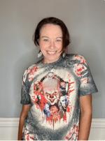 Halloween Killer Bleached  Shirt