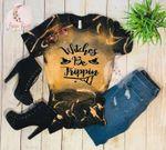 LEACHED Shirt - Halloween Tshirt - Pumpkin Fall Autumn - Witches Be Trippin T-Shirt - Bleached Distressed Tee - Bleach Tshirt - Boho Shirt