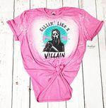Killin' Like A Villain Scream Shirt, Halloween tie dye shirt