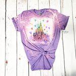 Cin.der.el.la Castle Balloons Bleached Shirt