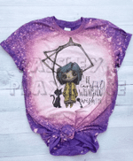 Be Careful What You Wish For Coraline Halloween Bleached Shirt