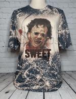 Such A Sweet Boy Texas Chainsaw Massacre Horror Classics Halloween Bleached Shirt