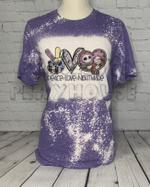 Peace Love Nightmare Halloween Bleached Shirt