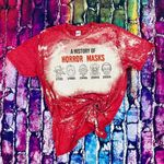 A History of Horror Masks Bleached Shirt