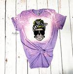 Skull Momster Striped Shirt, Halloween tie dye shirt