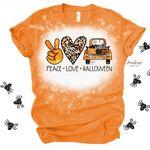 Peace Love Halloween Truck Shirt