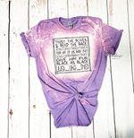 Hocus Pocus Cat Spell Bleached Shirt