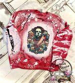 Halloween Michael Myers Splatter Bleached Crewneck Sweatshirt or Hoodie