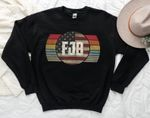 FJB sweatshirt hoodie Pro America US Distressed Flag F Biden FJB